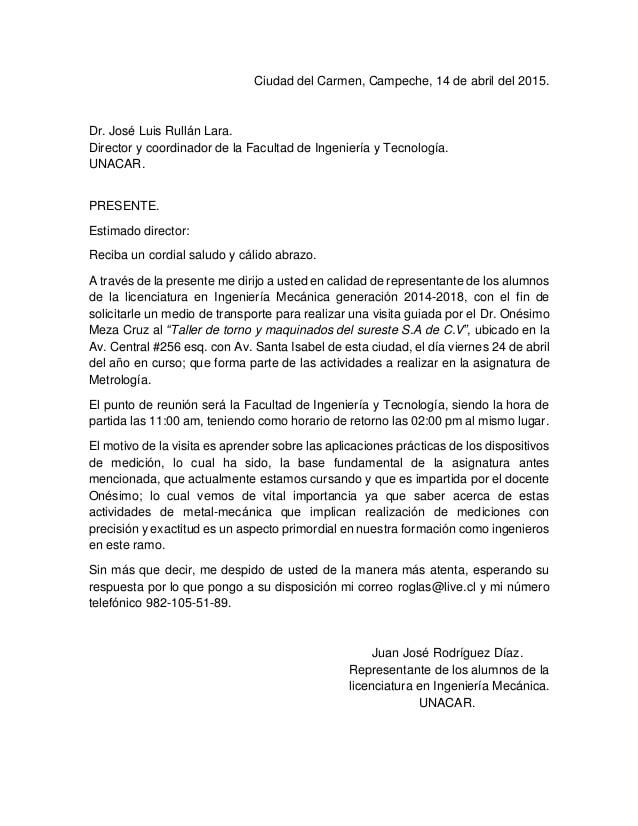 Ejemplos De Como Hacer La Carta Formal En España Y Como Hacerla
