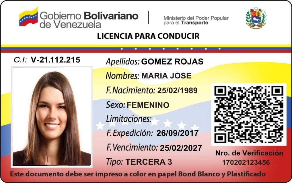 Licencia De Conducir De Venezuela Tramite