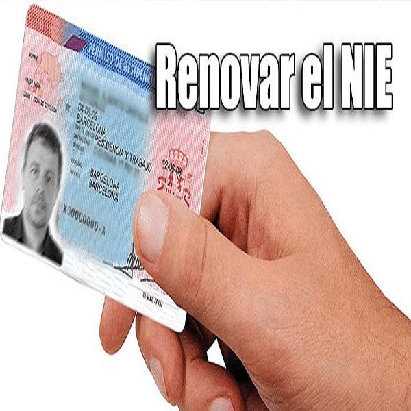 requisito para renovar el NIE 1