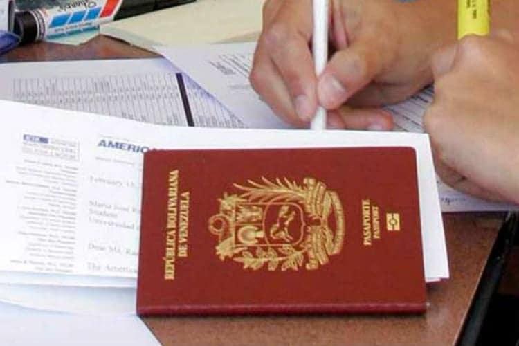 Planilla de Solicitud de Pasaporte del Saime 1